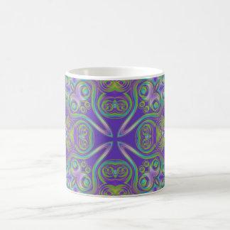 Artes abstractos - caleidoscopio 7 tazas de café