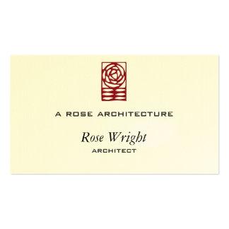 Artes color de rosa y ornamento de los artes tarjetas personales