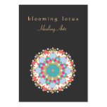 Artes curativos de Lotus de la mandala colorida de Tarjeta Personal