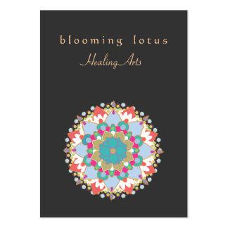 Artes curativos de Lotus de la mandala colorida de Tarjetas De Visita Grandes