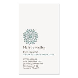 Artes curativos y logotipo curativo natural del cí tarjeta de negocio