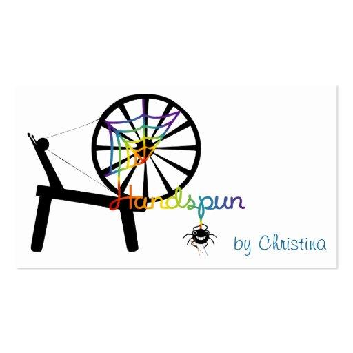 Artes de la fibra de Handspun Tarjetas De Visita