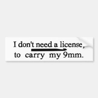 Artes de la licencia del gancho de ganchillo pegatina para auto