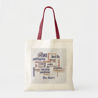 Artes de la lona de la conciencia de la gripe avia bolsa tela barata