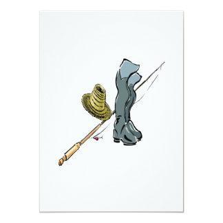 """Artes de pesca invitación 5"""" x 7"""""""