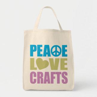 Artes del amor de la paz bolsa tela para la compra