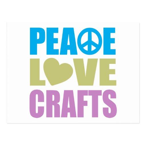 Artes del amor de la paz postal