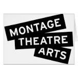 Artes del teatro del montaje tarjeta
