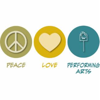 Artes interpretativas del amor de la paz esculturas fotograficas