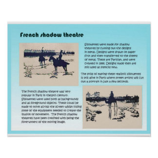 Artes interpretativas teatro francés de la sombra poster