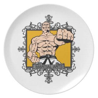 Artes marciales agresivos platos para fiestas
