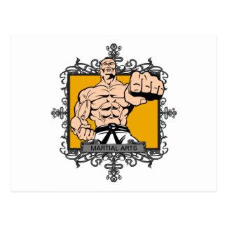 Artes marciales agresivos postales