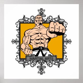 Artes marciales agresivos póster