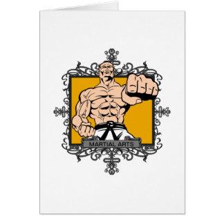 Artes marciales agresivos tarjeta de felicitación