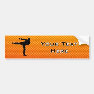 Artes marciales amarillo-naranja etiqueta de parachoque