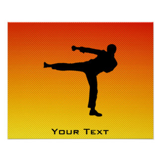 Artes marciales amarillo-naranja poster