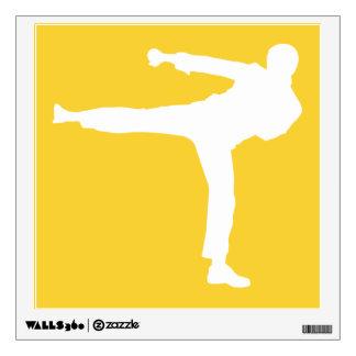 Artes marciales ambarinos amarillos vinilo decorativo