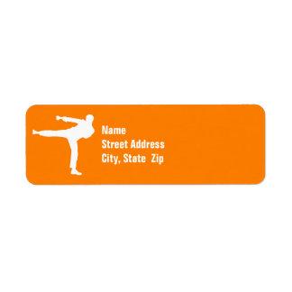 Artes marciales anaranjados etiquetas de remite