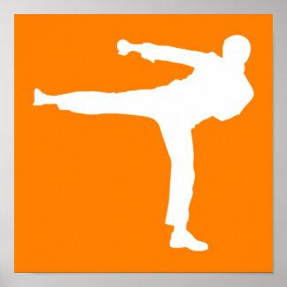 Artes marciales anaranjados póster