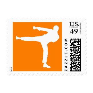 Artes marciales anaranjados sellos