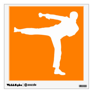 Artes marciales anaranjados vinilo decorativo