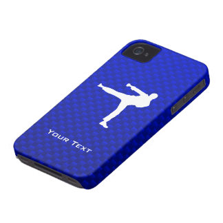 Artes marciales azules Case-Mate iPhone 4 protectores
