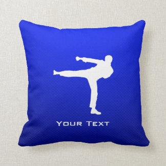 Artes marciales azules cojín decorativo