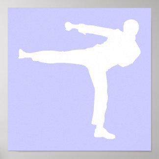 Artes marciales azules de la lavanda poster