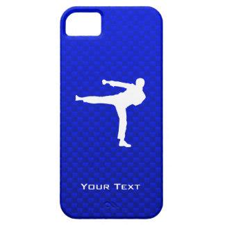 Artes marciales azules iPhone 5 carcasa