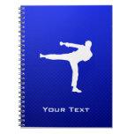 Artes marciales azules libros de apuntes con espiral