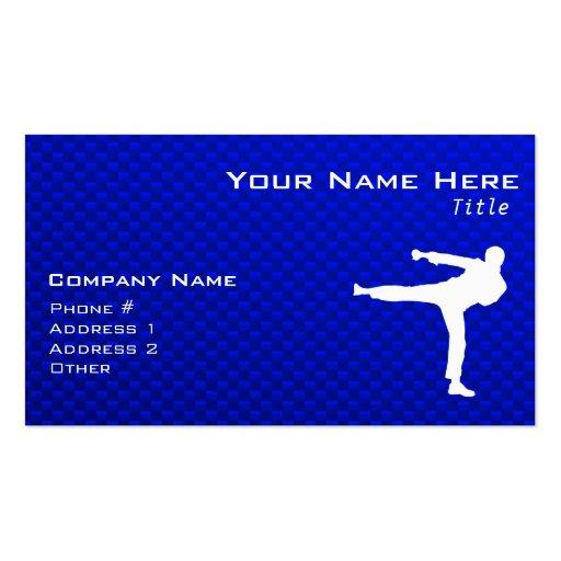 Artes marciales azules tarjeta de visita