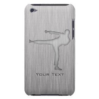 Artes marciales cepillados de la Metal-mirada Cubierta Para iPod De Barely There