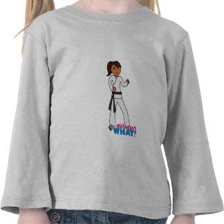 Artes marciales - cola de caballo (oscura) camisetas