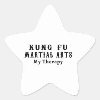 Artes marciales de Kung Fu mi terapia Calcomanías Forma De Estrellaes