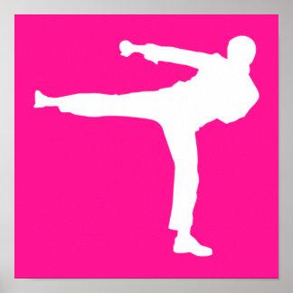 Artes marciales de las rosas fuertes póster