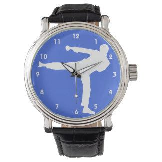 Artes marciales del azul real reloj