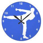Artes marciales del azul real relojes de pared