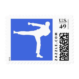 Artes marciales del azul real sello