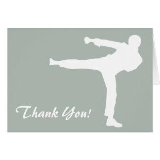 Artes marciales del gris de ceniza tarjeta