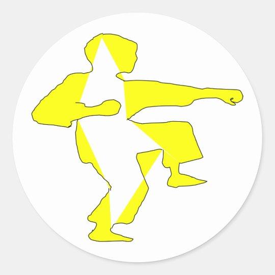 artes marciales del karate del pegatina