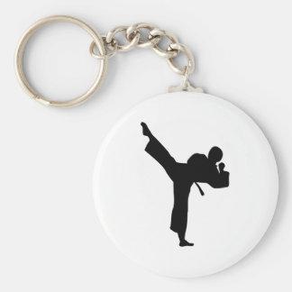 Artes marciales del karate llavero redondo tipo pin