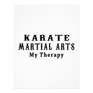 Artes marciales del karate mi terapia plantilla de membrete