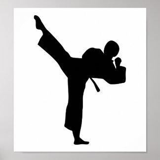 Artes marciales del karate posters