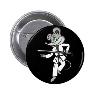 Artes marciales del ratón pin redondo 5 cm