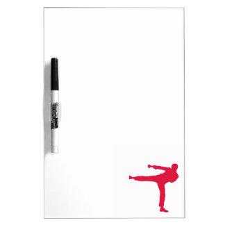Artes marciales del rojo carmesí pizarra