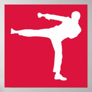 Artes marciales del rojo carmesí póster