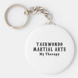Artes marciales del Taekwondo mi terapia Llavero Redondo Tipo Pin
