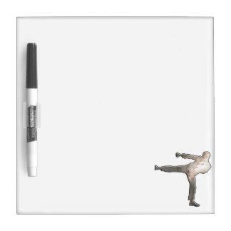Artes marciales frescos tableros blancos
