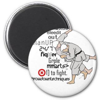 Artes marciales imán redondo 5 cm