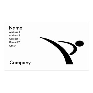 Artes marciales/instructor del karate tarjetas de visita